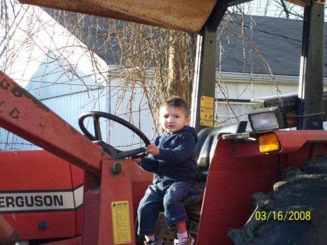 kyle on Papa's tractor